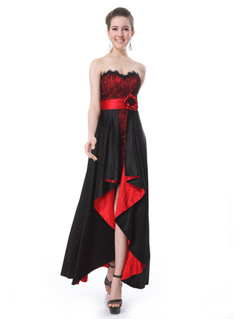 Women's Designer Asymmetric High-Low Lace Sweetheart Prom Evening Dress for Sale