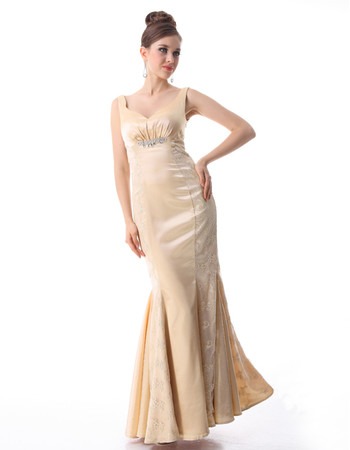 Women's Discount Mermaid Satin Long Prom Evening Dress with Lace Jackets for Sale