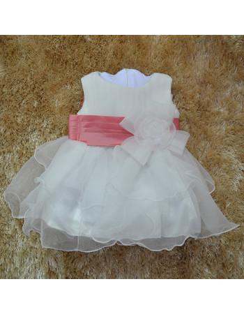 Adorable Ball Gown Tea Length Organza Little Girl Party Dress