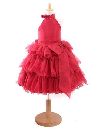Beautiful Ball Gown Knee Length Easter Dress/ Little Girls Pageant/ Party Dress