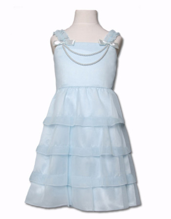 Cheap A-Line Tea Length Tiered Easter Dress/ Flower Girl Dress