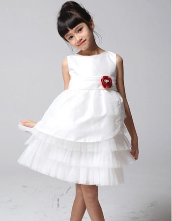 Pretty A-Line Knee Length Little Girls Pageant/ Party Dress