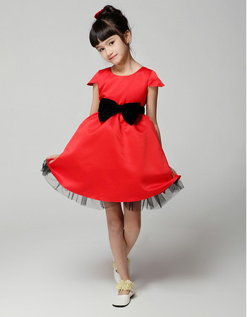 Pretty A-Line Cap Sleeves Short Little Girls Party Pageant Dress