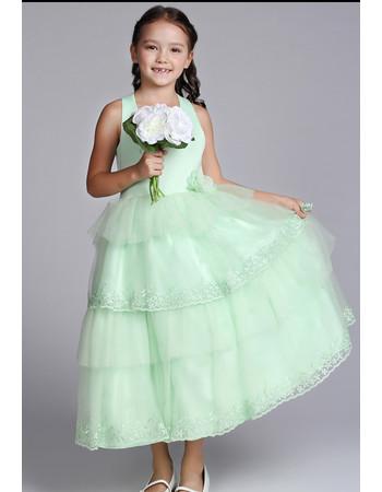 Little Girls Pretty Halter Tea Length Satin Easter Dress/ Flower Girl Dress