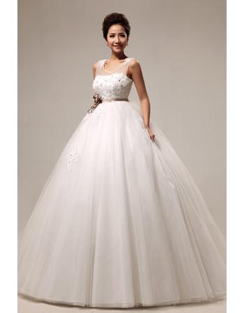 Modern Elegant Empire Waist Floor Length Organza Dress for Spring Wedding