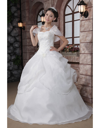 Cheap Amazing Off-the-shoulder Ball Gown Floor Length Dress for Spring Wedding
