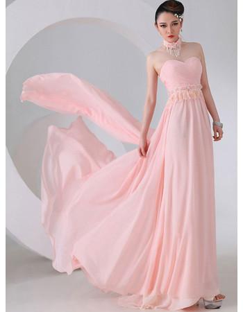 Elegant Sweetheart Chiffon Long Prom Evening for Women