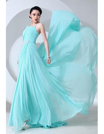 Affordable Amazing Asymmetric Chiffon A-Line Long Prom Evening Dress for Women