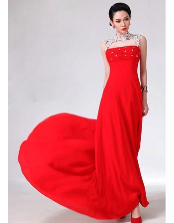 Mandarin Collar Prom Dress
