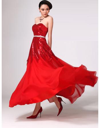 Stunning Tulle Chiffon Sweetheart Floor Length Prom Evening Dress for Women