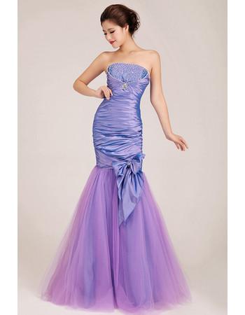 Amazing Mermaid Strapless Floor Length Satin Formal Evening Dress