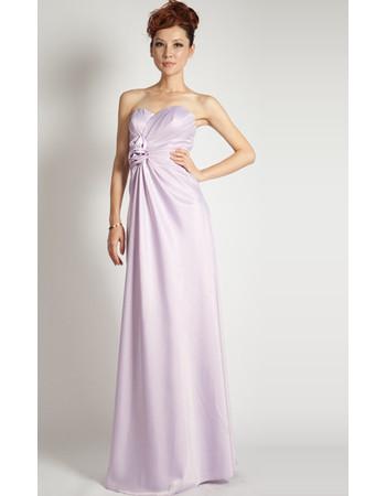 Simple High Waist Column Sweetheart Satin Floor Length Evening Dress for Women