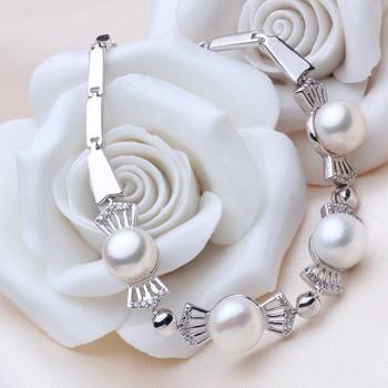 Affordable Elegant Multicolor 6.5 - 8.5mm Freshwater Off-Round Pearl Bracelet