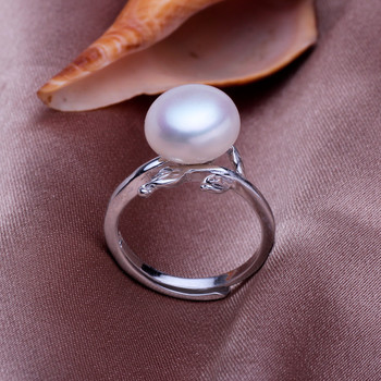 Affordable White/ Pink/ Purple 9.5 - 10.5mm Freshwater Off-Round Pearl Ring