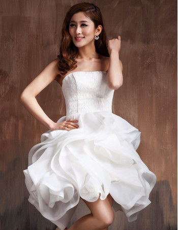 Affordable sexy modern bubble skirt strapless satin for Bubble skirt wedding dress