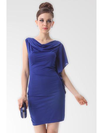 Affordable Modern Asymmetric Column/ Sheath Chiffon Short Formal Dress for Cocktail Party