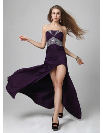 Beautiful Sheath/ Column Strapless Floor Length Satin Evening Dress