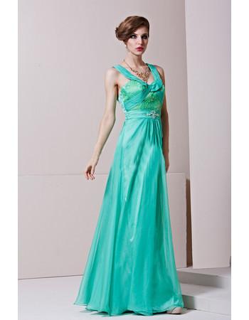 Sheath/ Column Round/ Scoop Floor Length Taffeta Formal Evening Dress for Women