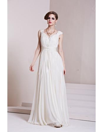 Affordable Custom Celebrity Chiffon Sweetheart Floor Length Column/ Sheath Evening Dress