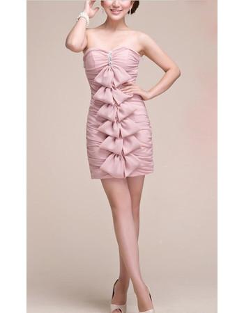 Chic Sweetheart Sheath Short Chiffon Homecoming/ Graduation Dress for Girls