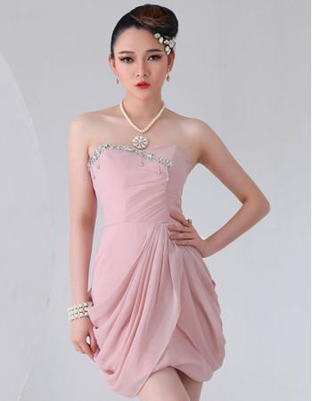 Beautiful Chiffon Short Sheath Sweetheart Homecoming Dress for Girls