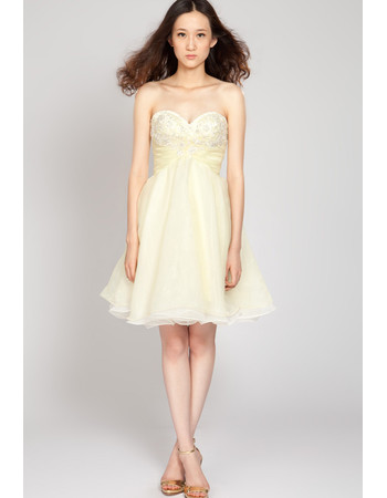Affordable Simple A-Line Sweetheart Short Chiffon Junior Homecoming Dress for Girls