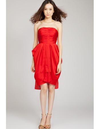 Pretty Column Strapless Short Taffeta Homecoming Dress for Girls