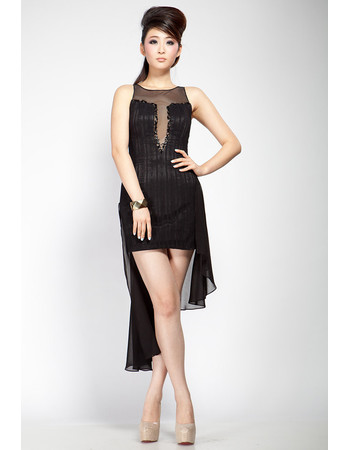 Discount Hipster Sheath Taffeta Organza Short Tight Black Homecoming
