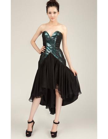 Pretty Sheath Sweetheart High-Low Chiffon Homecoming Dress for Girls