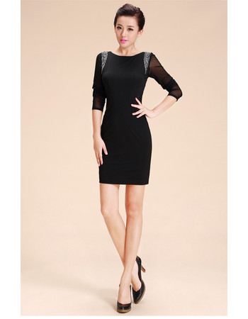 Girls Tight Black Sheath Tight Short Little Black Cocktail