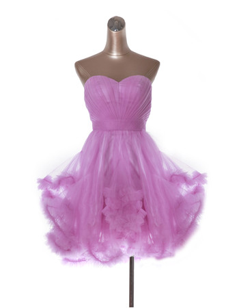 A-Line Sweetheart Short Organza Homecoming Dress
