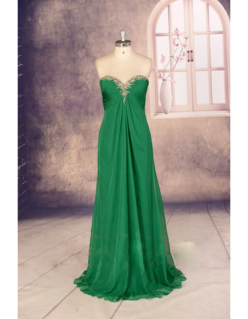 2017 New Style Empire Sweetheart Long Chiffon Evening/ Prom Dress