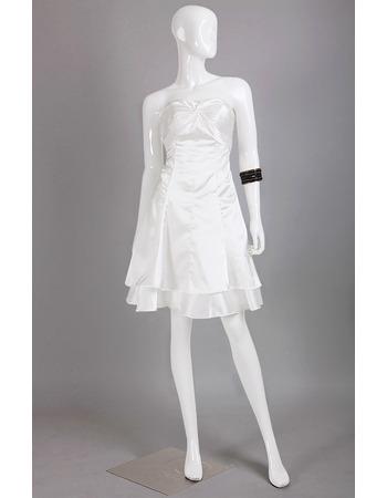 Discount Custom Sweetheart Sleeveless Mini/ Short Satin Homecoming Dress