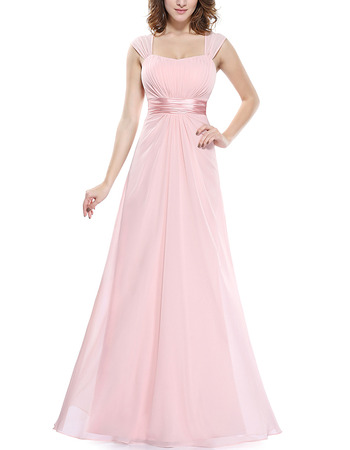 2018 Top Long Chiffon Bridesmaid Wedding Dress with Straps