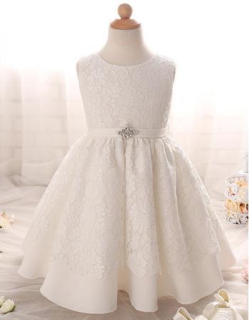 2018 Cute Floor Length Lace Flower Girl/ First Communion Dress