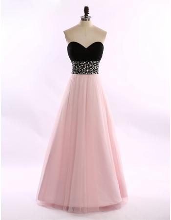 2018 Stylish A-Line Sweetheart Floor Length Formal Evening Dress