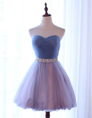 2018 Boho A-Line Sweetheart Short Multi-Color Homecoming Dress