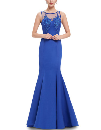 Inexpensive Mermaid Floor Length Satin Formal Evening Party Dress