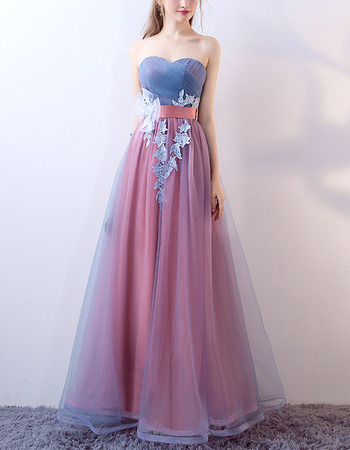 Beautiful Sweetheart Long Contrast Color Formal Evening Dress