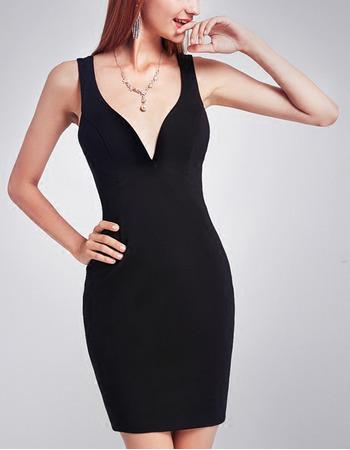 Sexy Sheath Sweetheart Short Black Homecoming/ Little Tight Black Dress