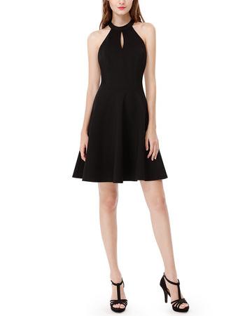 Inexpensive Halter Mini Backless Homecoming/ Little Black Dress