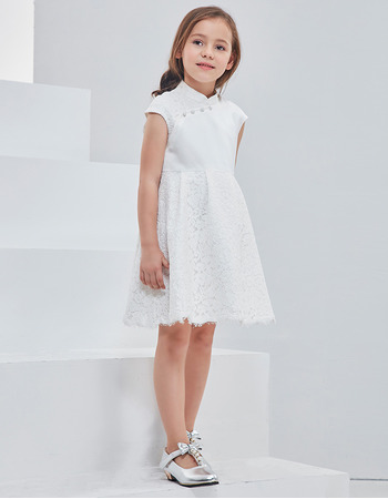 d5240b812423 2018 New Classy Mandarin Collar Mini/ Short Flower Girl Dress - US$ 89.99 -  iDreamBuy.com