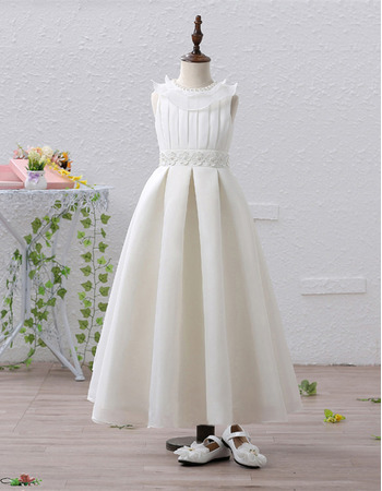 2018 Lovely Style Tea Length Flower Girl / First Communion Dresses
