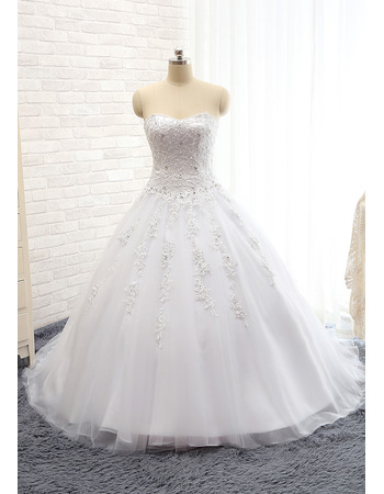 Classic Ball Gown Sweetheart Floor Length Wedding Dress