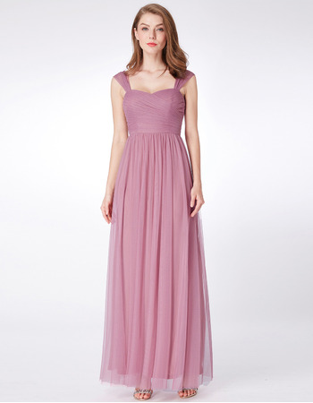 Amazing Sweetheart Floor Length Chiffon Bridesmaid Dress with Straps
