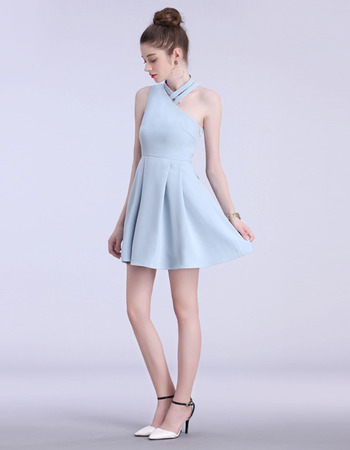 Girls Pretty Custom One Shoulder Mini/ Short Asymmetric Homecoming Party Dress