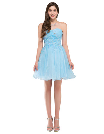 Girls Cheap Sweetheart Mini/ Short Homecoming/ Sweet Sixteen Dress