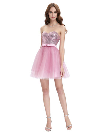 Girls Cute Sweetheart Mini/ Short Homecoming/ Sweet Sixteen Dress