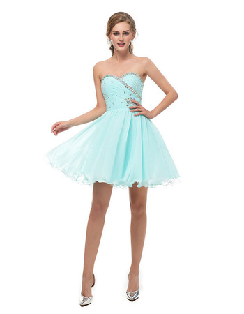 2018 Girls A-Line Sweetheart Mini/ Short Homecoming/ Graduation Dress