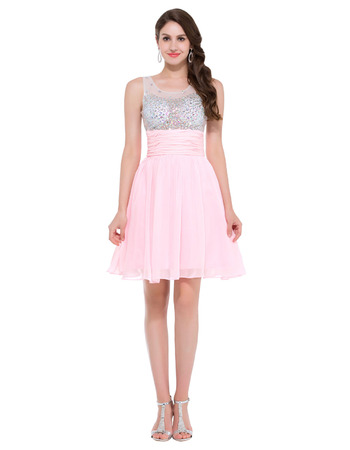 Girls Discount Mini/ Short Chiffon Homecoming/ Graduation/ Party Dress